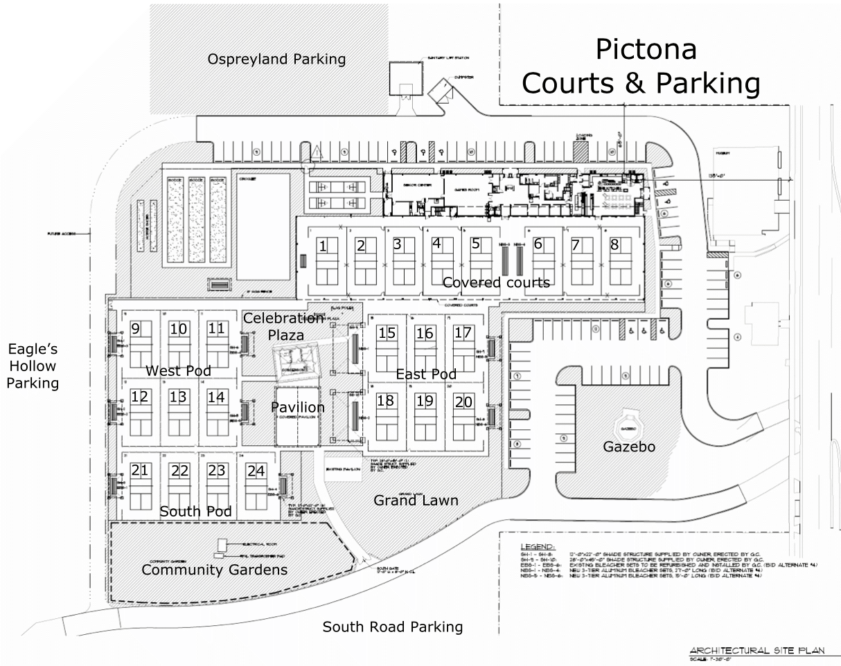Pictona Courts Layout