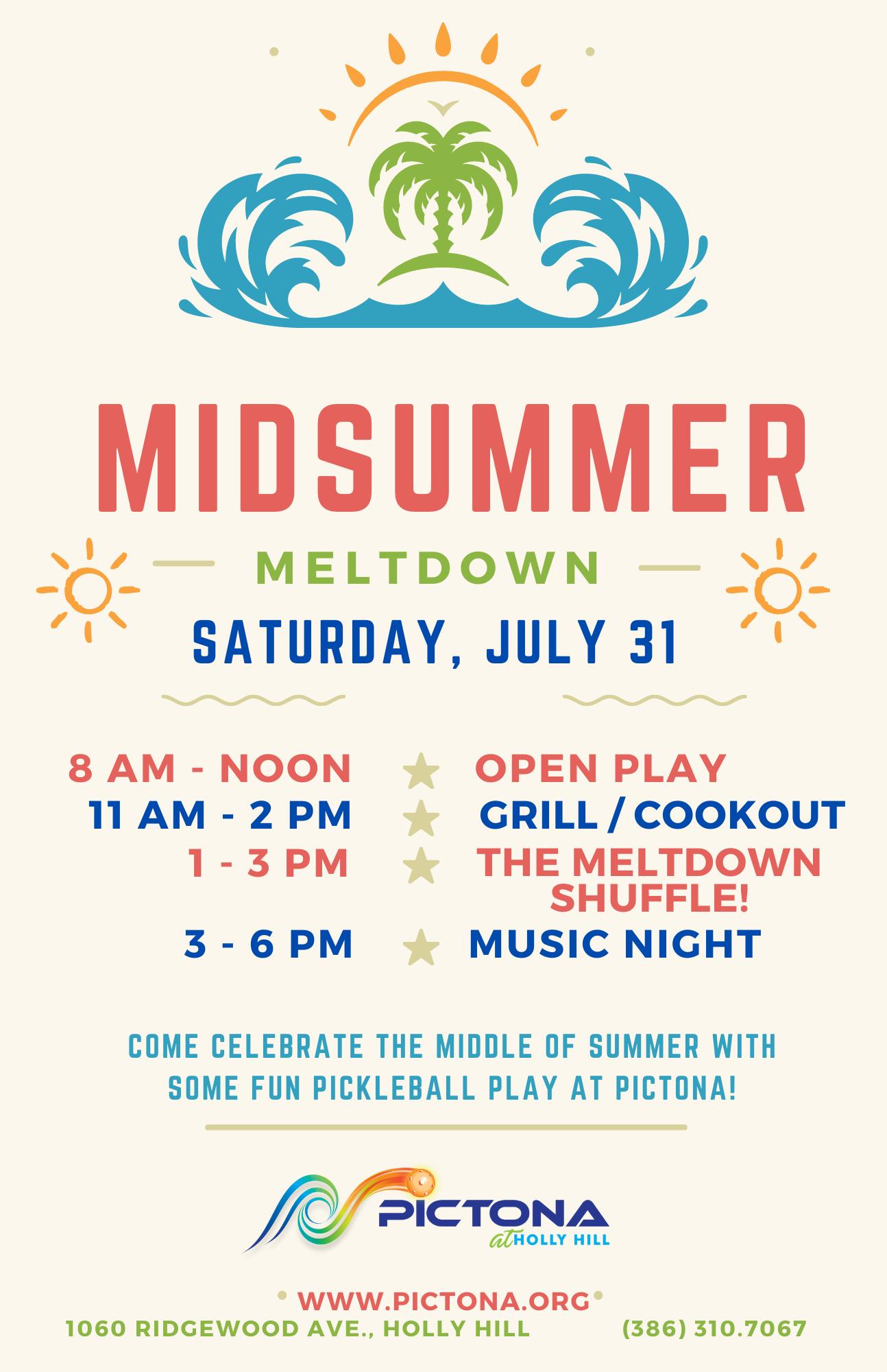 Midsummer Meltdown Flyer